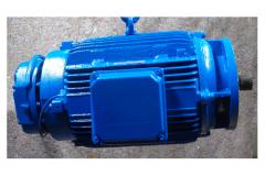 Elektromotor blau lackiert