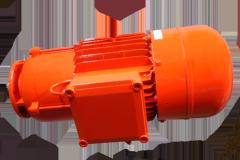 Elektromotor orange lackiert